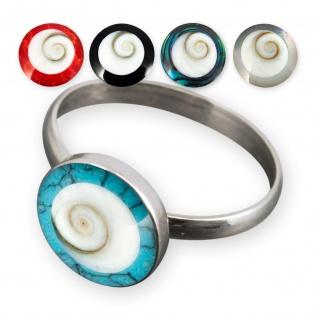 Damen Ring Shiva Auge Silber 925 (Stein-Farbauswahl) risi042