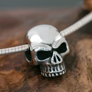 Edelstahl Totenkopf Skull Anhänger Herren Kettenanhänger Totenschädel klassisch