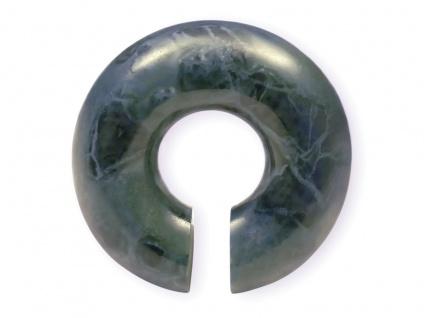 Marmor Ohrgewicht Donut Stein Expander Taper Plug Tunnel grün 4-14 mm