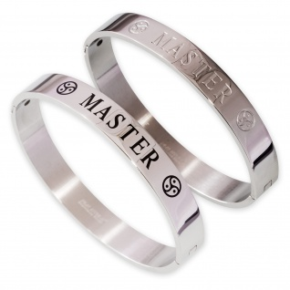 Armreif Ring der O BDSM Motiv Armband Damen Herren Edelstahl 6 Modelle brst032 - Vorschau 2