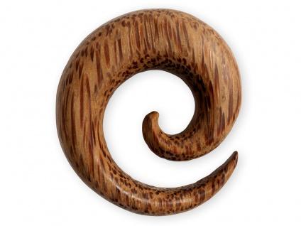 Kokosnuss Holz Dehnungsspirale Schnecke Sichel Plug Flesh Tunnel Expander Taper