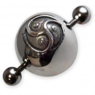 Nipple Shield Edelstahl BDSM Triskele brust nippel piercing brustwarzenpiercing