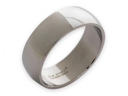 Band Ring Edelstahl Damen Herren 8mm 10mm 12mm breit Daumenring Partnerringe - Vorschau 3