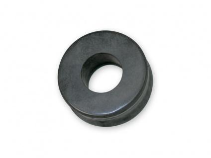 Flesh Tunnel Ohr Plug Hämatit Stein Piercing Blutstein schwarz 5-25 mm