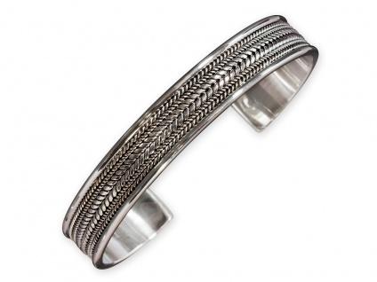 Armreif Armspange 925 Silber Kelten Damen Herren Schmuck verstellbar