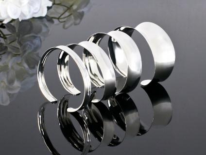 925 Silber Armreifen Armspange Damen Schmuck Armband klassisch verstellbar breit