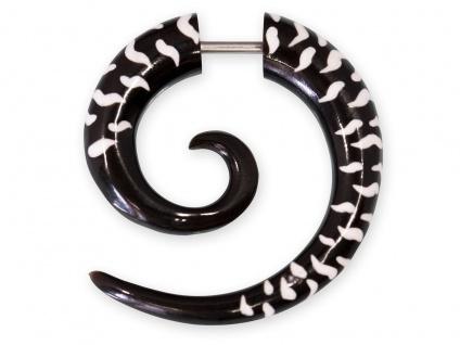 Horn Fake Piercing Ohrring Spirale Plug Hornohrring