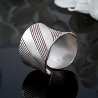 Breiter Silber Ring Damen Bandring 925 Vintage Schmuck verstellbar matt offen