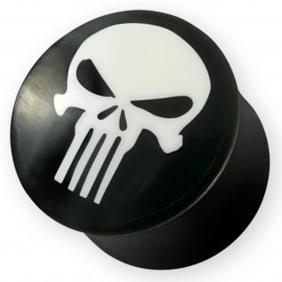 Punisher Skull Horn Plug Knochen