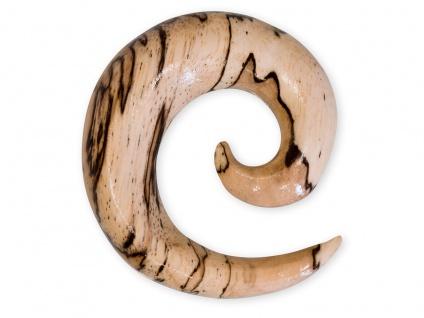 Dehnspirale Zebra Tamarindenholz Sichel Plug Dehner Expander Taper Schmuck