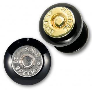 Bullet Acryl Ear Plug flesh tunnel ohr piercing rockabilly emo hardcore patrone