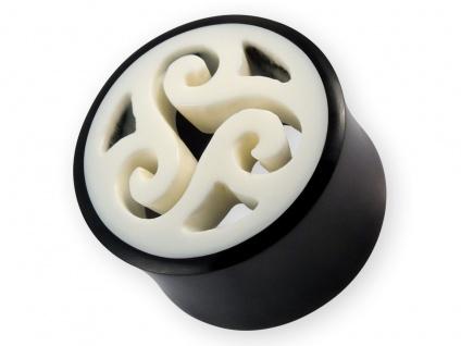Horn Flesh-Tunnel Triskele Ohr Plug Knochen Piercing keltisch BDSM WGT 8-22mm