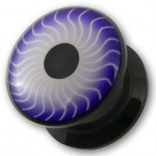 3-12mm Acryl Ohr Plug Auge flesh tunnel piercing ear acrylic tube eye emo punk