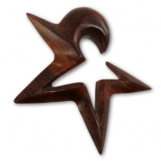 Holz Expander Stern spirale sichel ohr plug tunnel piercing star horn punk emo