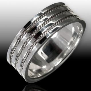 925 Silber Ring mit Damen Herren breit Bandring Kelten Schmuck Knoten Muster - Vorschau 2
