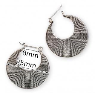 Damen Ohrringe Creolen groß echt Silber 925