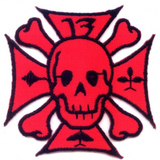 Aufbügler Eisernes Kreuz iron cross skull hot rod metal punk rock aufnäher patch