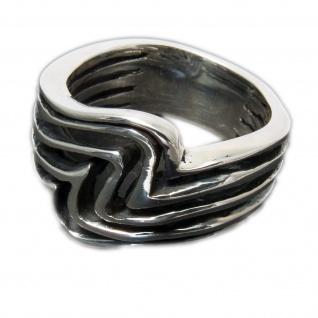 925 Silber Designer Damen Ring Wellen surfer ethno schmuck boho tribal maori goa