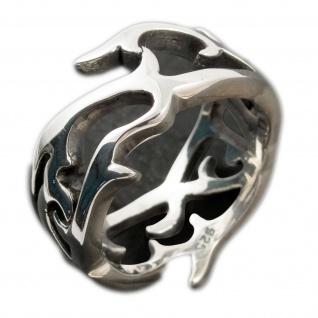 925 Silber Designer Dornen Tribal Ring gothic biker damen herren schmuck