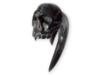 Expander Klaue Vampir Schädel aus Horn Ohr Plug Sichel