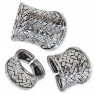 Silber Ring 925 Karen Hill Tribe breit schmal Damen Schmuck Antik Used Design