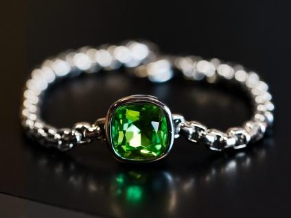 Damen Glieder-Armband Edelstahl Zirkonia Strass Kristall Armreif Armkette