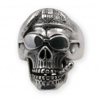 Ring aus 925 Sterlingsilber Totenkopf Skull Silberring Biker Herren Schmuck