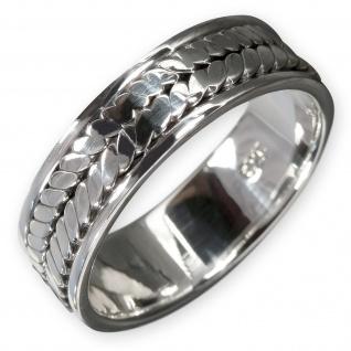 925 Silber Herren Bandring silberring gothic schmuck kelten celtic wow band ring