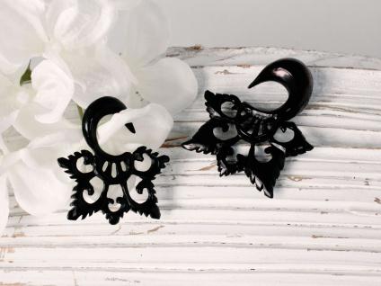Horn Expander Blume Blüte Dehnungssichel Dehnspirale Dehnungsspirale Ohrring