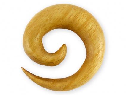 Holz Spirale Ohr Piercing expander dehn schnecke dehnungssichel tunnel plug horn
