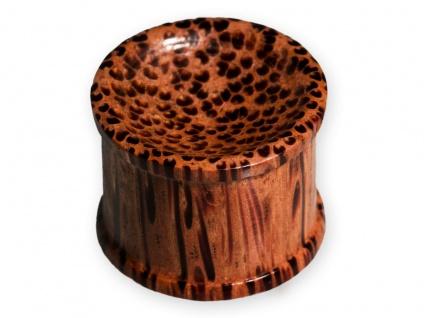 Holz Ohr Plug Flesh Tunnel Palmenholz Piercing Schmuck 1 Stück (4-48mm)
