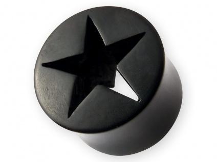 Horn Flesh-Tunnel Stern Ohr Plug Star Tube Ohr Piercing Schmuck