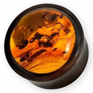 6-22mm Bernstein Horn Plug piercing schmuck organic ear flesh tunnel amber ohr