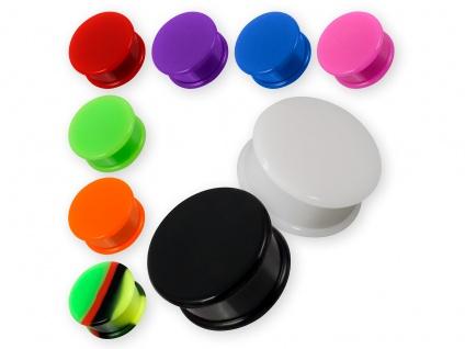 Silikon Plug Flesh Tunnel Ohr Piercing Retainer Hider Gummi 1 Stück (4 - 30 mm)