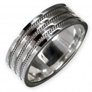 925 Silber Ring mit Damen Herren breit Bandring Kelten Schmuck Knoten Muster