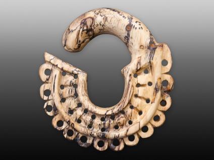 Holz Expander Dehnschnecke Dehnspirale Sichel Dehnungsspirale Spiralen Ohrringe