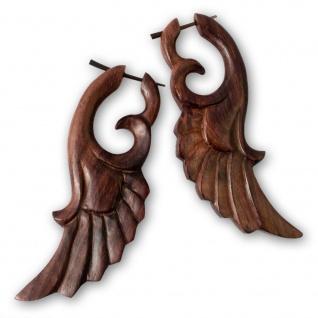 Vintage Engelsflügel Holzohrringe engel flügel holz ohrringe ohrhänger braun