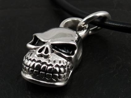 Edelstahl Totenkopf Anhänger Skull Kettenanhänger Schädel klein Herren