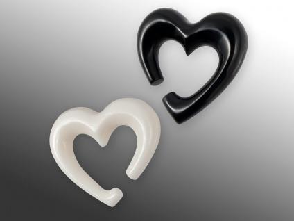 Horn Ohr Expander Herz Dehnungsspirale Piercing Knochen Ohrhänger Dehnsichel