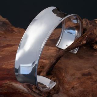 Echt Silber Armreif Armspange 925 Damen Armschmuck konkav glänzend verstellbar