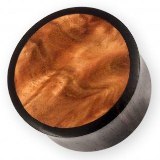 Holz Plug Ebenholz Australian Sheoak flesh tunnel piercing horn knochen ohr goa