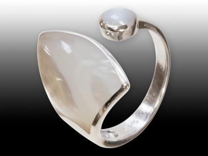 Damen Finger-Ring Silber 925 (Perlmutt) risi066_perlmutt