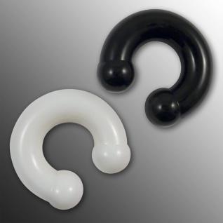 Circular Barbell Piercing Silikon Septum Hufeisen Plug Brust intim 4-12 mm