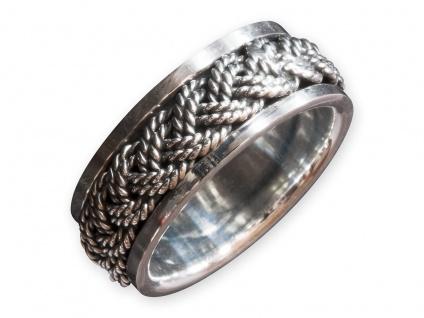 925 Silber Meditations Dreh Ring Keltischer Knoten celtic tribal gothic spinning