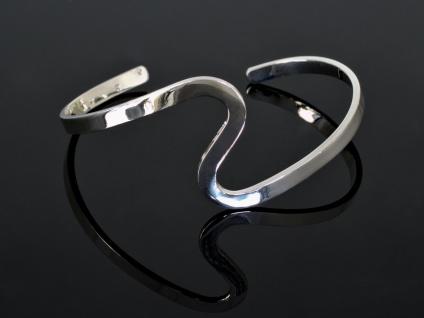 Silber Armreif Damen Armspange Armband 925 schmal offen
