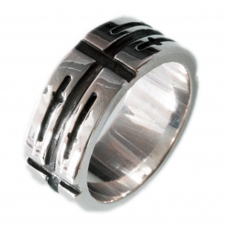 Design Band Ring 925 Silber herren schmuck biker harley chopper LARP rock gothic