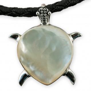 Fly Style Damen Ketten-Anhänger Perlmutt Schildkröte echt Silber 925 pdsi062