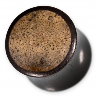 Ebenholz Plug Fossil Nashorn Knochen Inlay flesh tunnel horn bone holz ohr tube