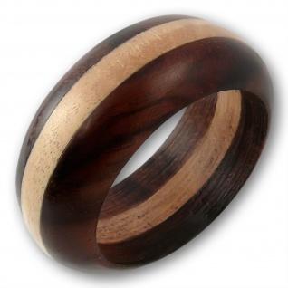 Bicolor Holz Ring zweifarbig goa natur schmuck native boho ethno vintage hippie