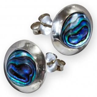 Damen Ohrstecker Stein Ohrringe Silber 925 (6 Steintypen) earsi009 - Vorschau 2